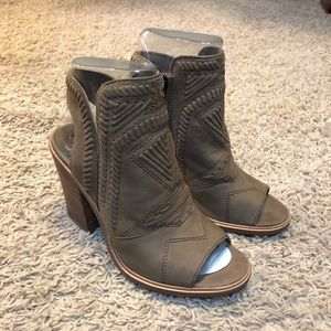 NWT Vince Camuto Open Toe Booties